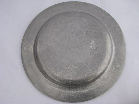 Rwp Mark Vintage Wilton Armetale Pewter Plate 25th