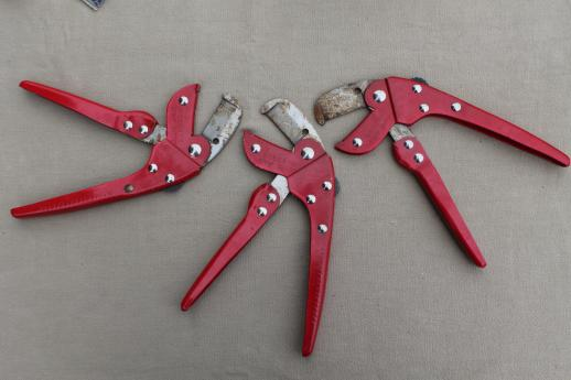 Roberts tack strip cutter model 590, carpet & rug installation tools, new old stock lot of 3