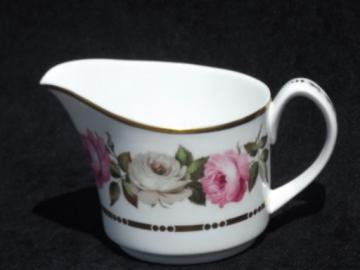 Royal Garden cream pitcher, vintage Royal Worcester roses china creamer