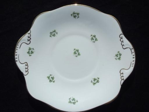 Royal Tara Irish Green Shamrock China Cranberry Bowl