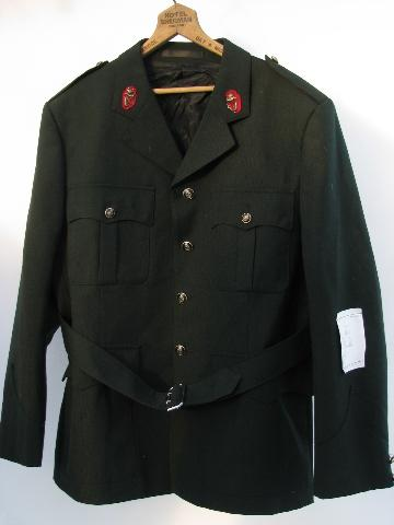 Royal Ulster Constabulary vintage MP uniform jacket w/ badges