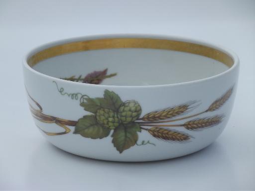 Royal Worcester Evesham corn wheat fruit bowl, individual salad bowl
