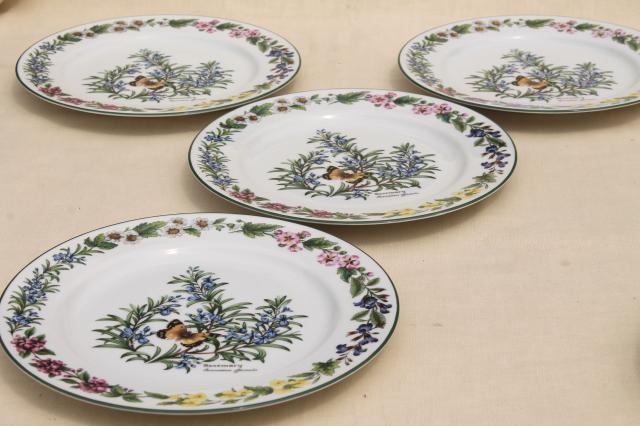 Royal Worcester Herbs botanical print china set of 4 dinner plates made in England & Royal Worcester Herbs botanical print china set of 4 dinner plates ...