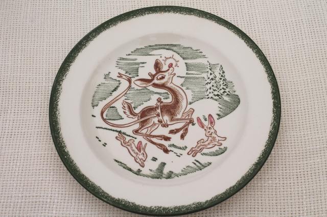 Reindeer Christmas Dinnerware