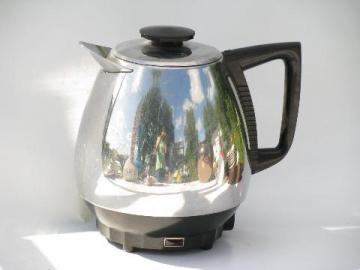 Saladmaster Jet-O-Matic model 10 electric coffee pot, vintage percolator