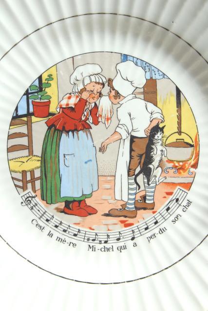 Sarreguemines Et Digoin France Pottery Plates Vintage