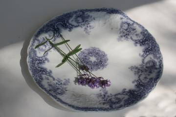 Savannah Johnson Bros china vintage lavender purple transferware tray or serving plate