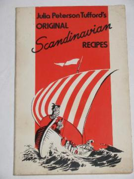 Scandinavian Recipes, vintage cookbook, Swedish & Norwegian food w/ Viking cover