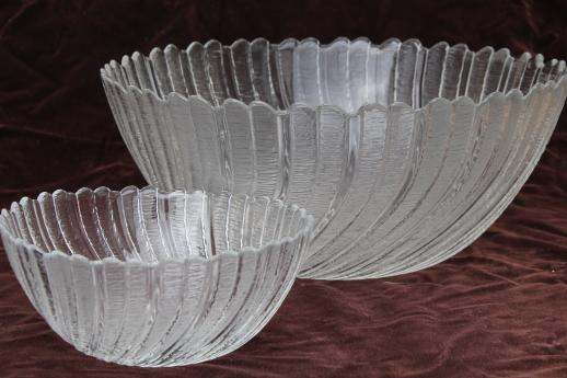 Seabreeze Arcoroc Glass Salad Plates Amp Salad Bowl Set