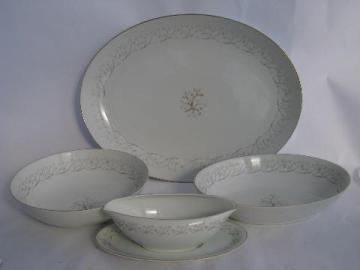 Serenade pattern vintage Empress china - Japan, huge platter, serving pieces