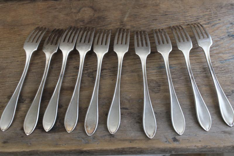 Sheraton Oneida Community plate silver plated dinner forks early 1900s vintage