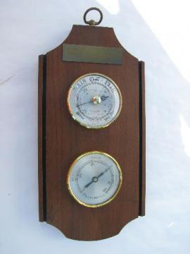 Shortland Bowen barometer/hygrometer weather instruments, made in England
