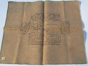 Vintage Rug Making Tools And Wool Fabric