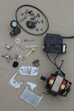 Singer Stylist 543 sewing machine replacement parts, sewing machine motor, belt etc.