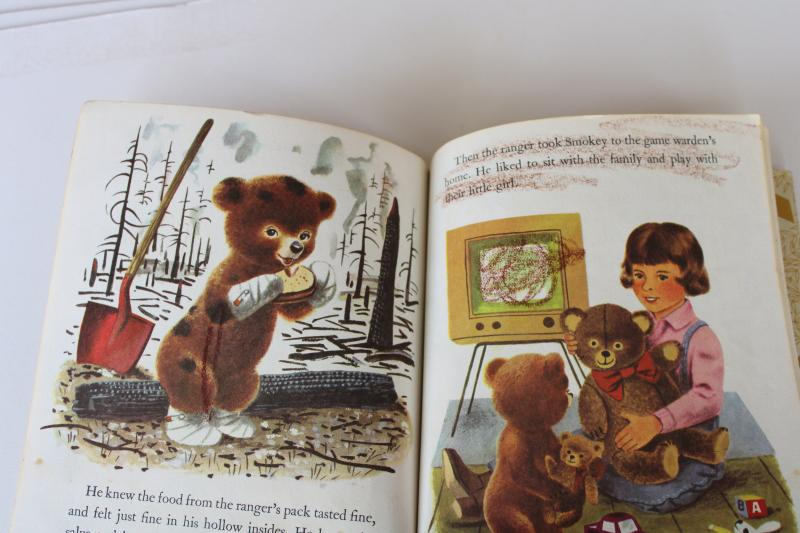 Smokey the Bear vintage Little Golden Book Richard Scarry illustrations