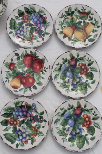 Sonoma Fruit Sakura Oneida Stoneware Dinnerware Set For 6