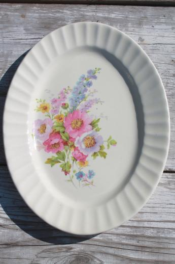 spring bouquet knowles china 40s vintage cottage garden flowers dishes set for 4