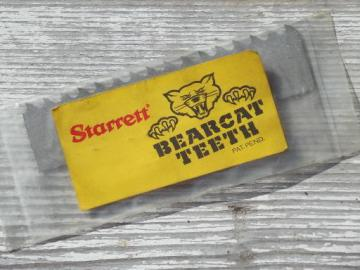 Starrett Bearcat teeth cutter, new old stock replacement tool part