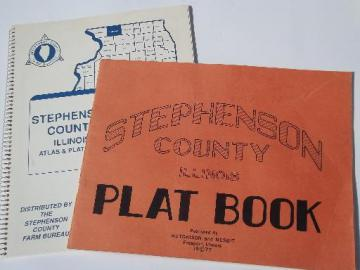 Stephenson County northen Illinois Freeport area plat books, 1977 & 1988