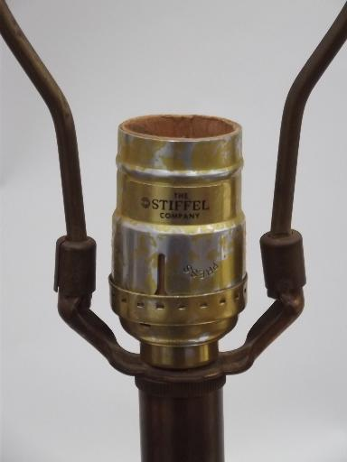 Stiffel brass lamp, antique brass torch table lamp, vintage Stiffel