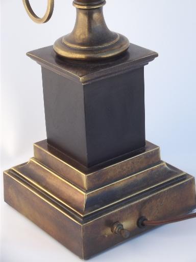Stiffel Brass Lamp Antique Brass Urn Table Lamp W Vintage Stiffel