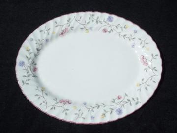 Summer Chintz vintage Johnson Brothers china oval serving platter