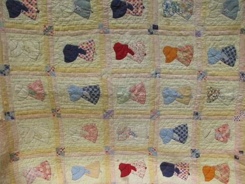 Sunbonnet Sue Vintage Farm Country Hand Stitched Applique