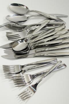 Superior stainless silverware, vintage International Silver flatware pattern INS138
