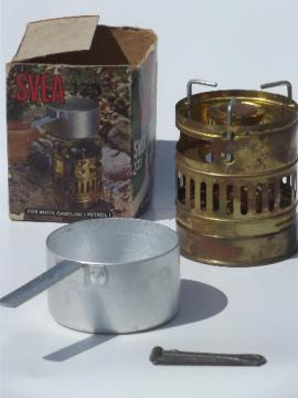 Svea 123 fuel oil stove, camping backbacker's stove kit made in Sweden