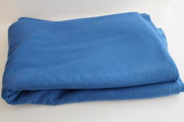 Swedish blue wool fabric, vintage material for crafts sewing, rug making