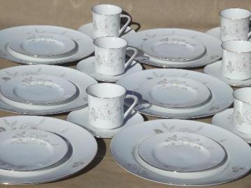 Sweetheart Rose vintage Johann Haviland Bavaria china dinnerware set for 6