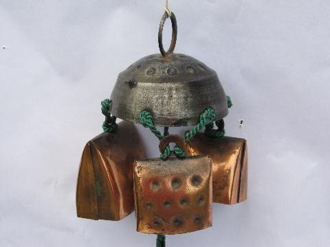 - Swiss Alpine Cow / Goat Bell Door Chime, Vintage Wind Chimes Bells