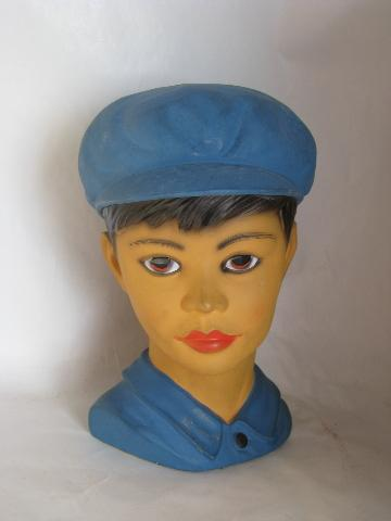 Swiss Miss Girl Boy China Head Figurines Busts Not Vases