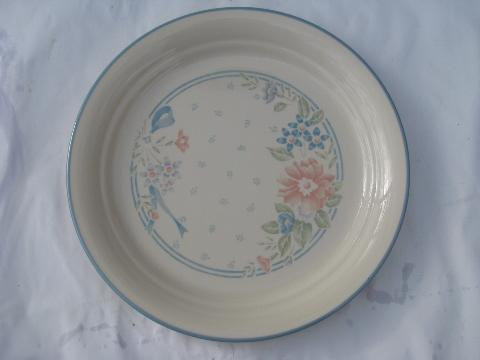 Symphony Coral Pink Amp Blue Flowers Corelle Glass