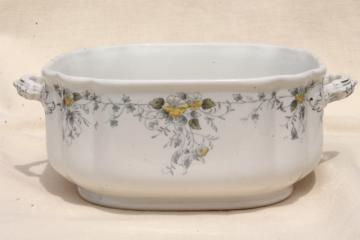 T & R Boote Waterloo Potteries antique English transferware square bowl w/ handles