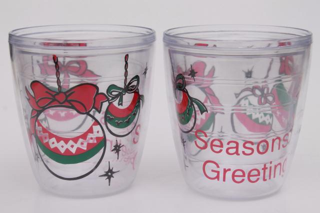 Tervis Style Clear Plastic Insulated Tumblers Christmas