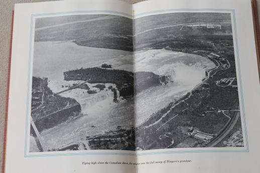 The Lengthening of Niagara Falls, early photos aerial views of the falls, electric power plant