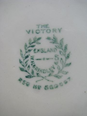 The Victory antique Grindley Monmouth china, round butter keeper plate & cover
