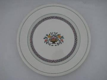 Trentham antique Wedgwood flower basket china chop / cake plate, round platter