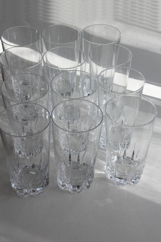 Versailles Cristal d'Arques vintage French crystal drinking glasses, 12 tall tumblers