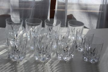 Versailles vintage French crystal lowball glasses, old fashioned tumblers Cristal d'Arques