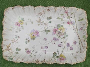 Victorian antique Melhen / Royal Bonn - Germany handpainted china tray