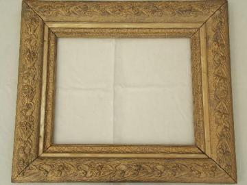 victorian gold wood picture frame large antique photo portrait frame