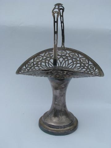 Victorian Silver Brides Basket Antique Vintage Silver