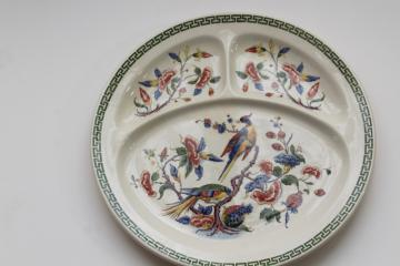 Villeroy & Boch Rouen china grill plate, India tree of life flowers peacock birds
