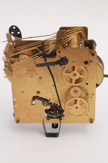 Vintage Howard Miller mechanical clock movement for repair