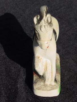 Vintage chalkware carnival souvenir, circus horse