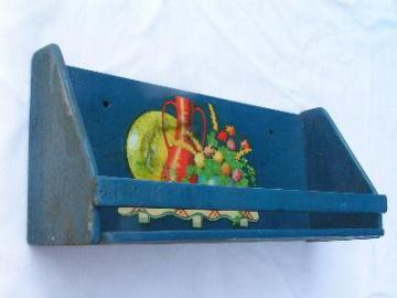 Vintage kitchen spice shelf