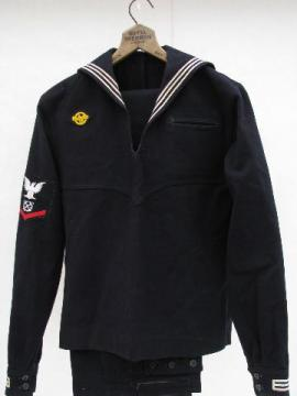 WWII era US Navy sailor wool dress blue uniform jumper