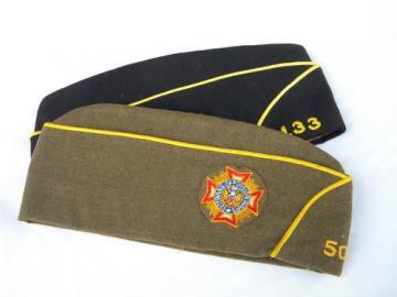 WWII veteran vintage American Legion garrison caps uniform hats